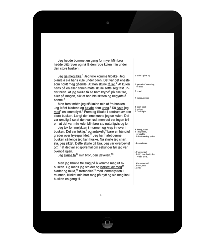 An example page of how the book appears on an iPad running Google Play Books